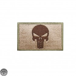 Punisher Square Tan and Brown Patch